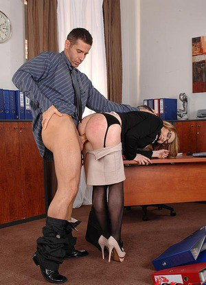 A colleague at work under her skirt - 2 part 4